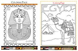religion pharaohs egypt coloring pages kids