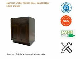 kitchen base cabinets ebay espresso shaker kitchen base cabinet single drawer door