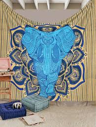 amazon com urbanknot elephant gypsy indian boho tapestry wall
