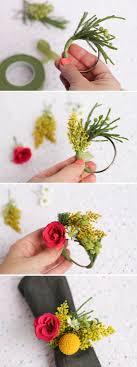 flower bracelet diy images Make this fresh flower napkin ring dinner party diy paper jpg