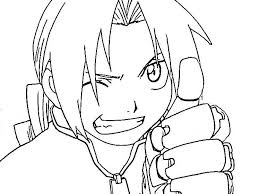coloring pages anime characters funycoloring