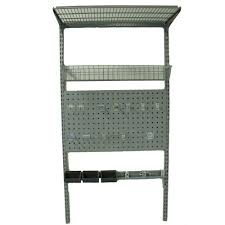 Wall Mount Wire Shelving Storability 33 In L X 63 In H Locboard Wall Mount Storage System