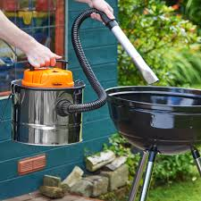 vonhaus 15l fireplace ash vacuum cleaner wood burner bbq grill