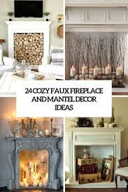 How To Decorate A Non Working Fireplace 24 cozy faux fireplace and mantel decor ideas shelterness