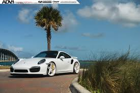 porsche 911 front view white porsche 911 turbo s adv05 m v2 cs series wheels 21x9 5