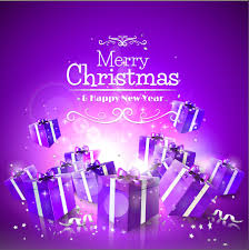 purple christmas gift box vector background vector background