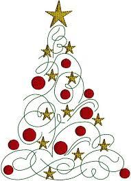 christmas tree swirl clipart 1984046