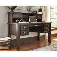 Shop Signature Design by Ashley Townser Grey Home Office Desk Hutch