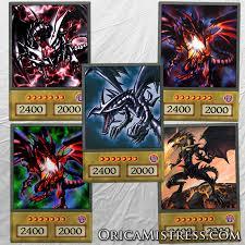 yu gi oh custom anime orica red eyes black dragon 5 card set