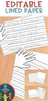 printable lined paper editable kindergarten primary lined paper print handwriting practice