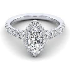 marquise halo engagement ring 14k white gold 1 96cttw marquise shaped halo engagement