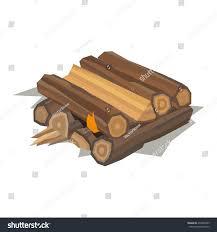 firewood fireplace bonfire stack vector wooden stock vector
