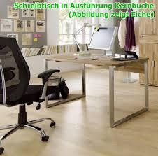 Schreibtisch Mit Computertisch Schreibtisch Mit Metallgestell Computertisch 140x70 Kernbuche