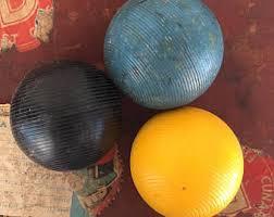 wood croquet balls 4 antique croquet balls painted wood