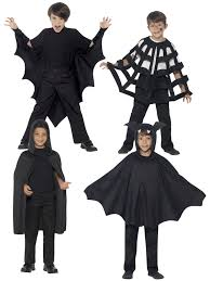 halloween capes kids halloween black hooded bat spider cape cloak boys child fancy