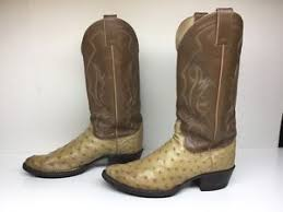 womens justin boots size 11 16 mens justin cowboy ostrich skin leather light brown boots size