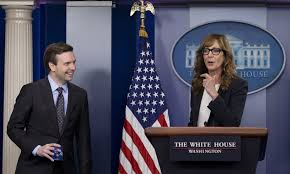 allison janney appears as cj cregg at white house briefing time com