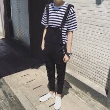 black and white jumpsuit for mens fashion black white jumpsuit for casual suspender