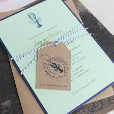 wedding invitation pocket lobster nautical wedding invitation pocket card