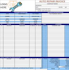 Excel Invoice Template 2003 Auto Repair Invoice Template Excel Sle Free 374118 E Ptasso