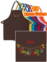 thanksgiving apron personalized aprons theapronplace