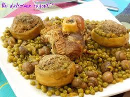 cuisine artichaut tajine artichauts farcis aux petits pois