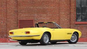 yellow maserati 1969 maserati ghibli 4 9 spyder s185 kissimmee 2017
