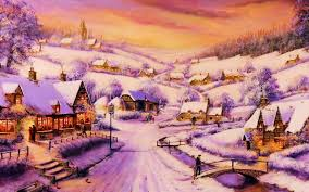 houses path village winter wallpapers houses path village winter