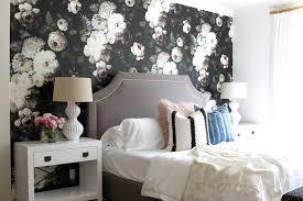 modern mix a bold floral bedroom