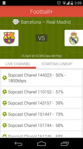 sopcast android apk football plus live tv 1 4 3 apk for android