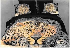 Best Duvet Covers 3d Leopard Aniamal Print Bedding Comforter Set King Queen Size