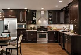 Kitchen Floors With Cherry Cabinets Dark Wood Kitchen Cabinets Kitchen Traditional With Cherry