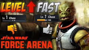 star wars force arena how to level up fast best deck in game