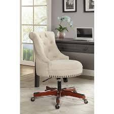 white upholstered office chair linon white upholstered office chair free shipping today