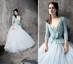 wedding dress not white bohemian sky blue and white wedding dress