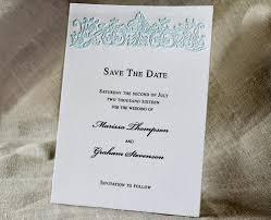 blue wedding invitation suite monogrammed letterpress wedding card