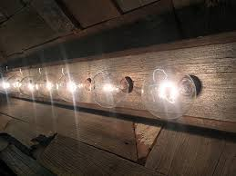 8 Light Bathroom Vanity Light 8 Bulb Rustic Barn Wood Bathroom Vanity Light Bar