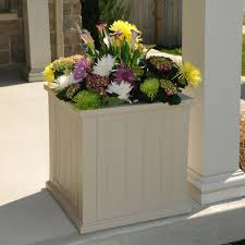 83 Gallon Deck Box by Mayne Fairfield 20 In Square White Plastic Planter 5825w The