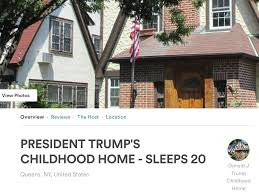 donald trump u0027s childhood home is available to rent on airbnb the