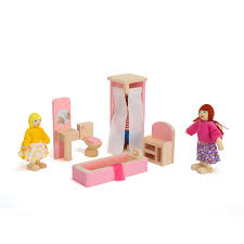 Dolls House Bathroom Furniture Wooden Doll Bathroom Furniture Bunk Bed House Miniature Children