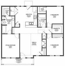 Modern Three Bedroom House Plans - decor simple 3 bedroom floor plans for small home design