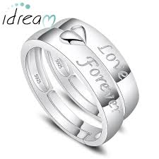 promise ring sets for him and forever engraved promise rings for women and men two half