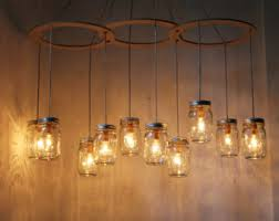 Jelly Jar Light Fixture Modern Lighting Mason Jar Chandeliers And More By Bootsngus