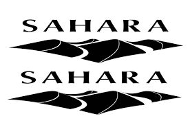 jeep decal pair of sahara jeep decals choose color white black silver red