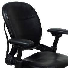 Leather Desk Chair by Steelcase Leap Used Leather Task Chair Black National Office