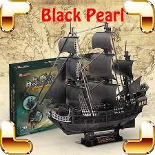 udgrade cadeau noir perle 3d puzzle adulte modèle bateau l histoire