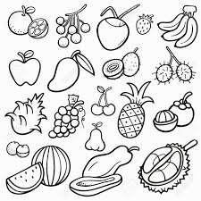 lovely design coloring book of fruits and vegetables pictures