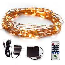 amazon com fairy star string lights 39ft extra long led copper