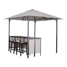 gazebo 8x8 outsunny 8 x 8 outdoor covered bar gazebo set w barstools