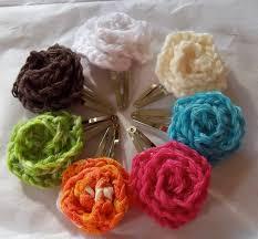 Flower Clips For Hair - how to crocheted flower hair clips make